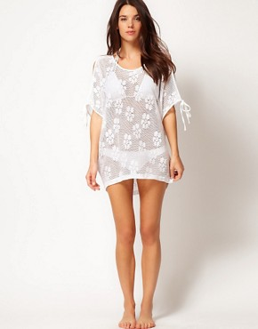 Image 4 ofASOS Lace Oversized Beach Cover Up