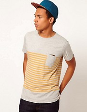 Boxfresh T-Shirt Breton Stripe Pocket Labadah