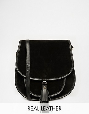 ASOS Suede 70s Saddle Shoulder Bag