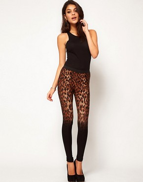 Image 1 ofASOS Leggings in Leopard Ombre Print