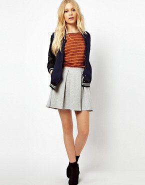 Image 1 ofRiver Island Box Pleat Skirt