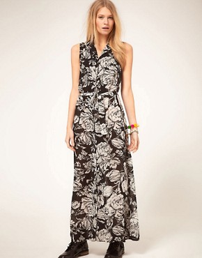 Image 1 ofMinkpink &#39;Shadow of Doubt&#39; Floral Maxi Dress