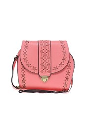 Liquorish Laser Cut Shoulder Bag