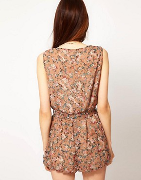 Image 2 ofGoldie Camilla Playsuit With Floral Print