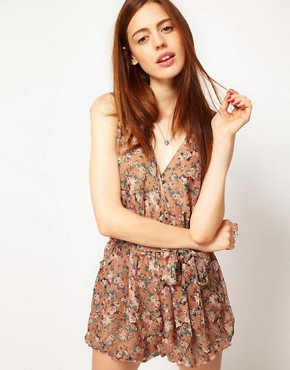 Image 1 ofGoldie Camilla Playsuit With Floral Print