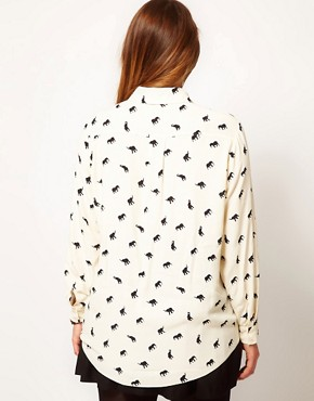 Image 2 ofASOS CURVE Exclusive Shirt In Elephant Print