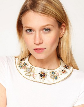 Image 1 ofASOS Embellished Bug Collar
