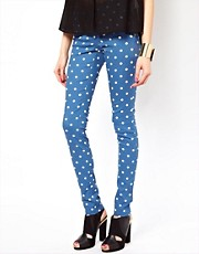 Jeggings con estampado de lunares Lovely de Vero Moda