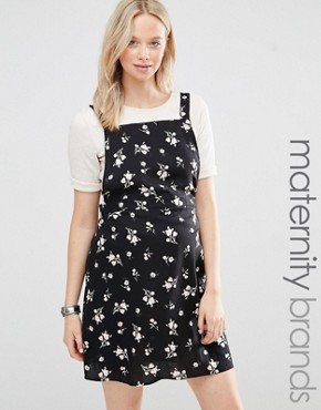 New Look Maternity Floral Ditsy Print Pinny Dress