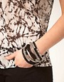 Image 2 ofASOS Black and Rhodium Bracelet Pack