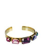 Krystal Multi Gem Cuff Bracelet