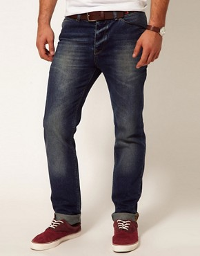 Image 1 of ASOS Slim Jeans With Mid Wash