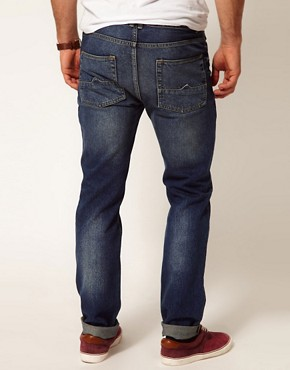 Image 2 of ASOS Slim Jeans With Mid Wash