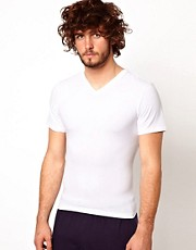 Spanx Cotton Control V Neck T-Shirt
