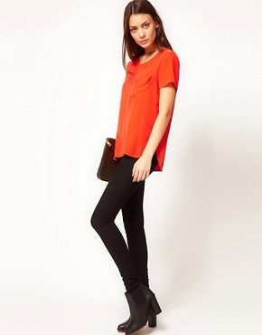 Image 4 ofWhistles Oversized Pocket Tee