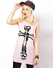 Voodoo Girl Cross Bones Vest Top