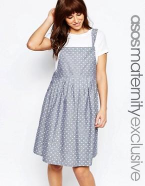 ASOS Maternity Spot Print Pinafore Dress