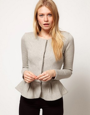 Image 1 of ASOS Peplum Frill Jacket