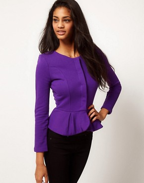 Image 1 ofASOS Peplum Frill Jacket