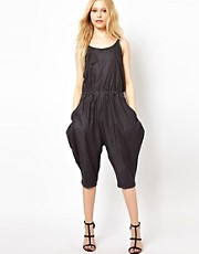 b + ab Denim Jumpsuit
