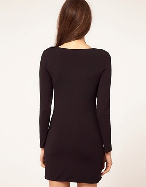 Image 2 ofTFNC Long Sleeve Knot Front Dress