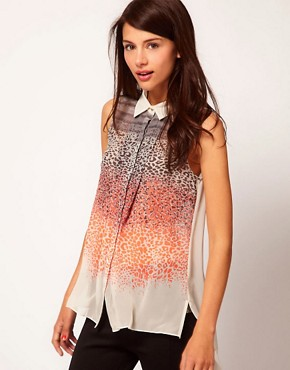 Image 1 ofWarehouse Neon Animal Blouse
