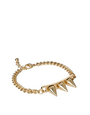 Image 1 ofASOS Triple Spike Bracelet