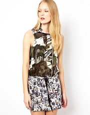 Edun Zip Shift Dress in Mixed Print