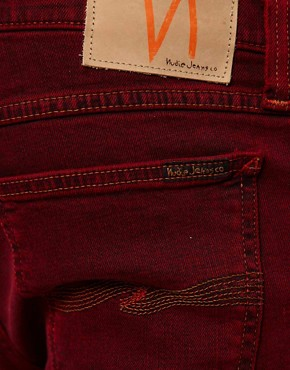 Image 3 ofNudie Jeans Tight Long John Skinny Fit Icon Red