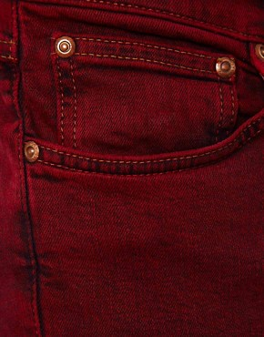 Image 4 ofNudie Jeans Tight Long John Skinny Fit Icon Red
