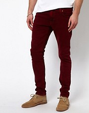 Nudie Jeans Tight Long John Skinny Fit Icon Red