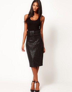 Image 1 ofAqua Brando High Waist Sequin Skirt