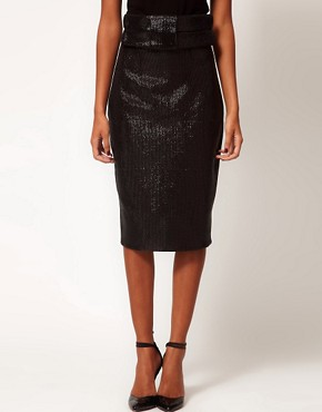 Image 4 ofAqua Brando High Waist Sequin Skirt