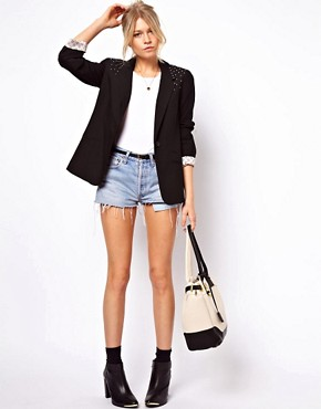 Image 4 ofASOS Oversized Blazer With Studs