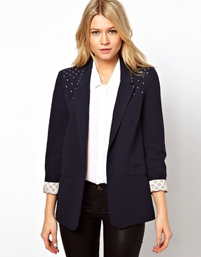 Image 1 ofASOS Oversized Blazer With Studs