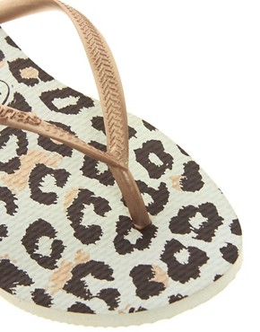 Image 2 ofHavaianas Slim Animals Rosegold Flip Flops