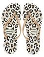 Image 3 ofHavaianas Slim Animals Rosegold Flip Flops