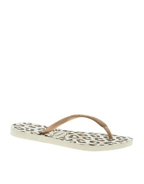 Image 1 ofHavaianas Slim Animals Rosegold Flip Flops
