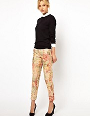 ASOS Trousers in Floral Jacquard