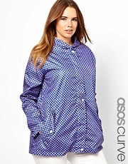 ASOS CURVE Pac a Parka In Geo Print