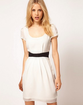 Image 1 of ASOS Tulip Dress With Contrast Bow