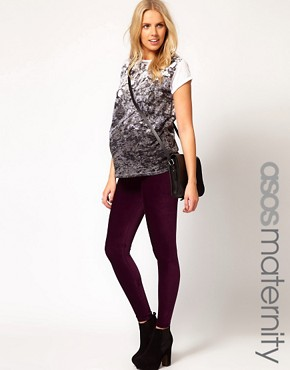 Image 1 ofASOS Maternity Legging In Soft Cord