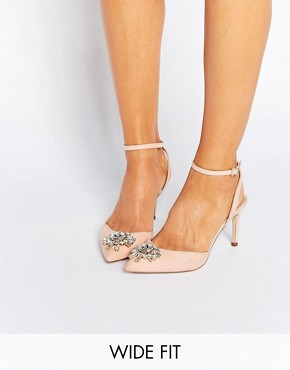 ASOS SOCIETY Wide Fit Embellished Heels