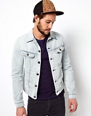 Lee Denim Jacket Rider Slim Fit Ice Blue