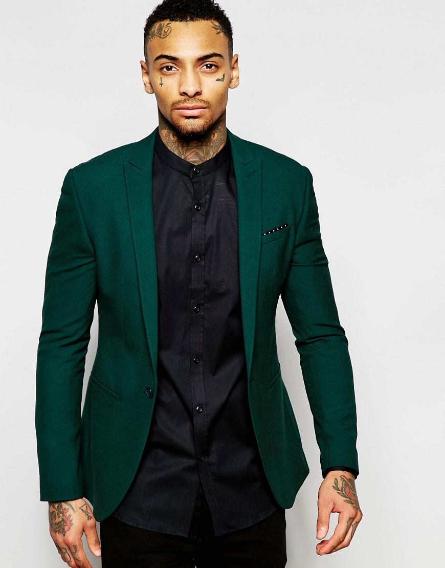 Green Asos suit for men - REF:3876096 | Cheap fashion online
