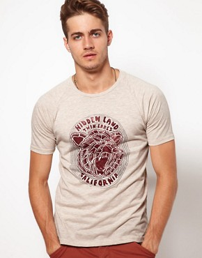 Image 1 ofASOS T-Shirt With Bear Print and Raglan Sleeves