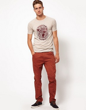 Image 4 ofASOS T-Shirt With Bear Print and Raglan Sleeves