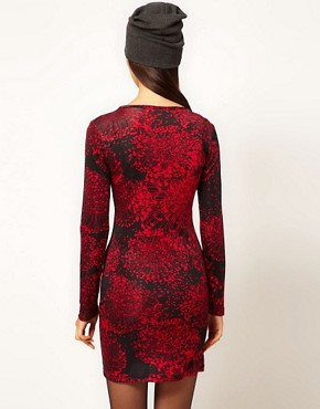 Image 2 of Danielle Scutt Long Sleeve Silk Jersey Dress in Floral Print