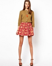 Maison Scotch Tribal Print Skirt