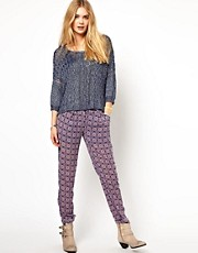 Pepe Jeans Printed Trousers With Button Front